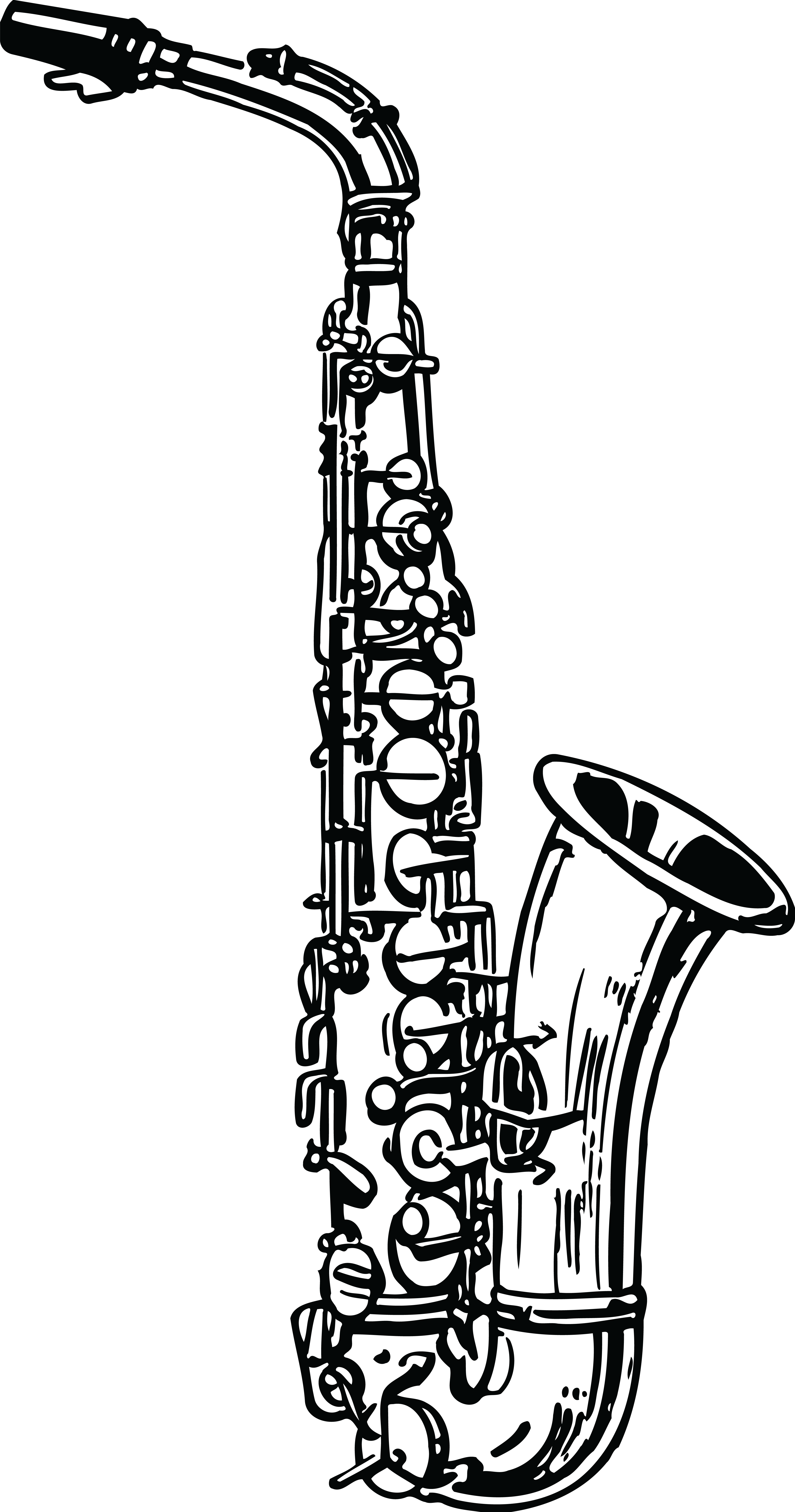 Band musical instrument frames. Clarinet clipart sketch