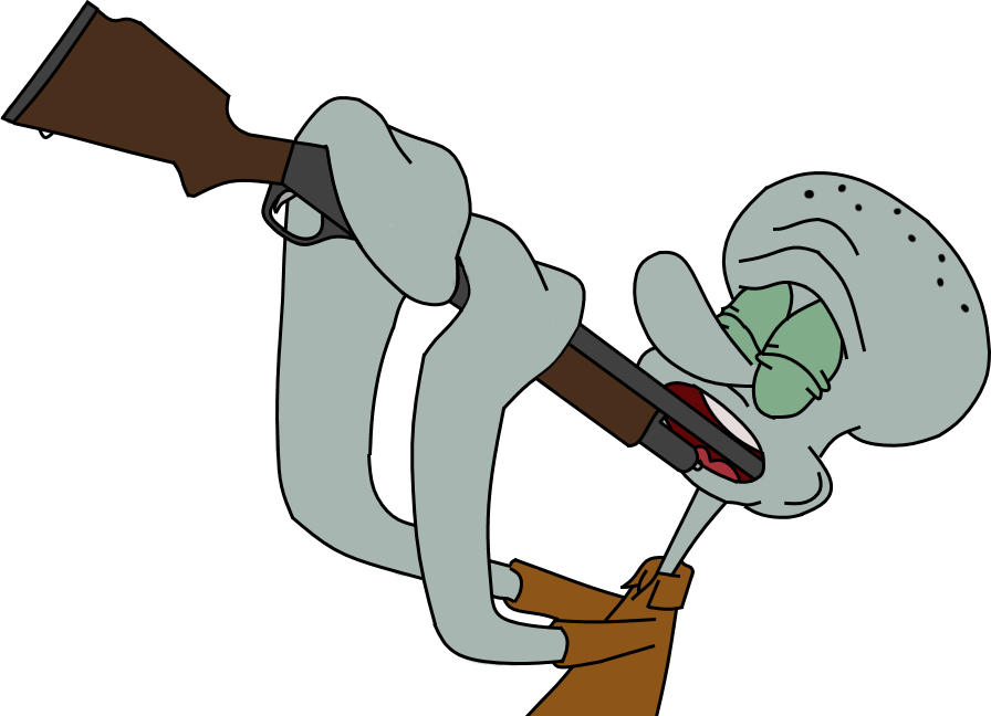 Clarinet clipart squidward. S unfortunate accident by