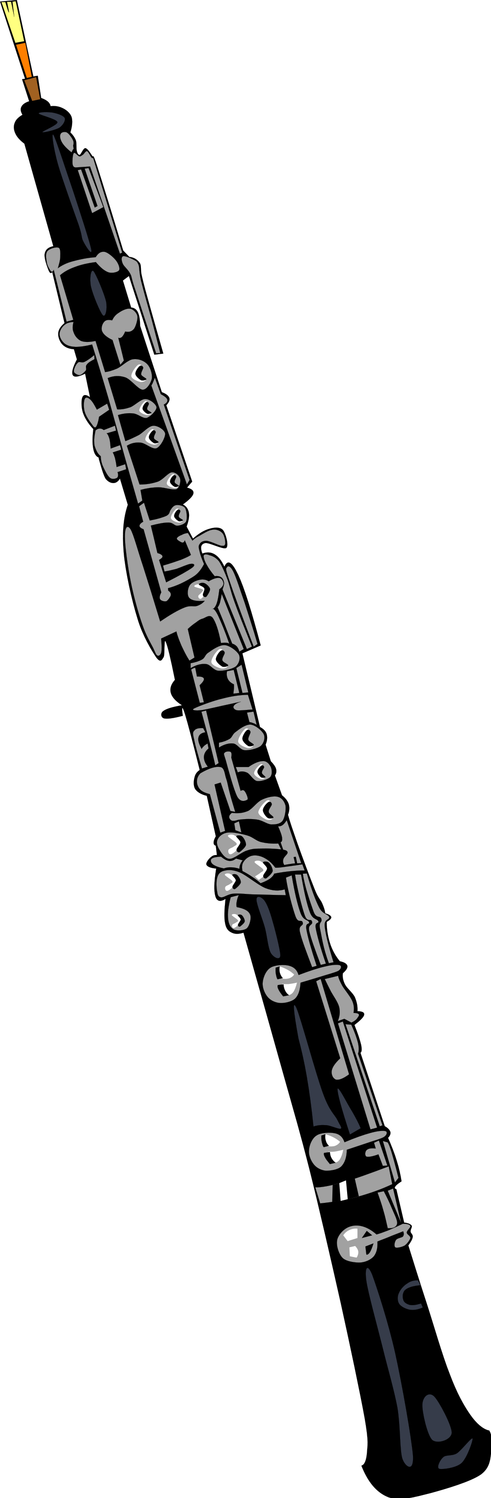 File oboe wikimedia commons. Clarinet clipart svg