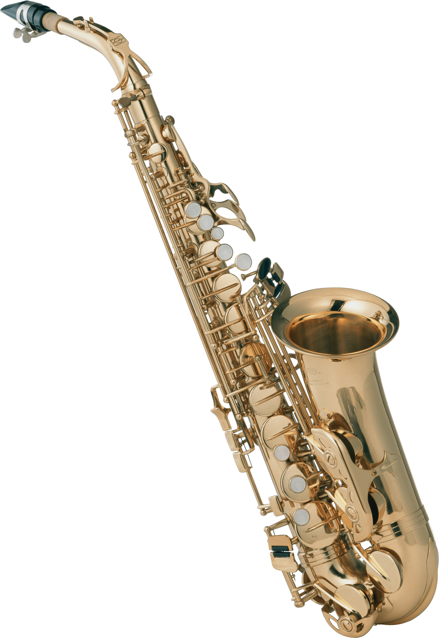 Saxophone front png stickpng. Clarinet clipart transparent background