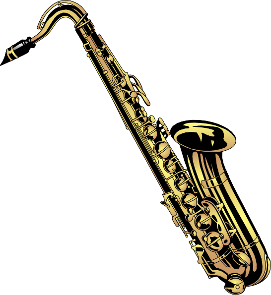 Saxophone clip art at. Clarinet clipart vector