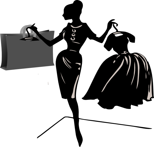 Lunchbox clipart mystery bag. Woman shopping women clip