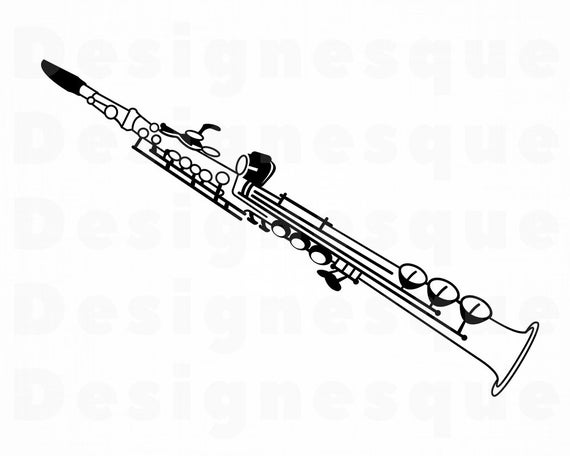 Clarinet clipart watercolor. Svg files for cricut