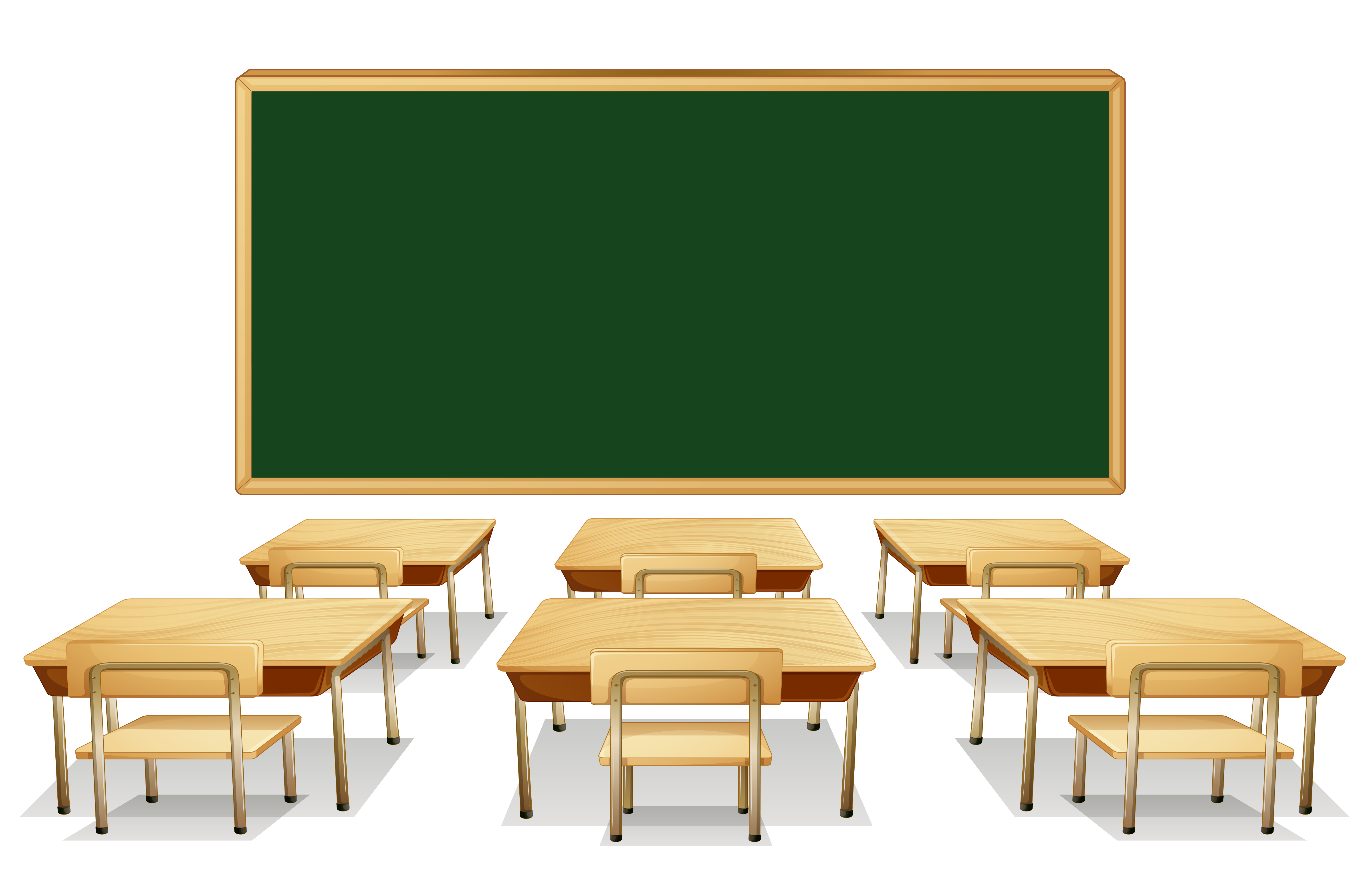 With green board and. Classroom clipart thing