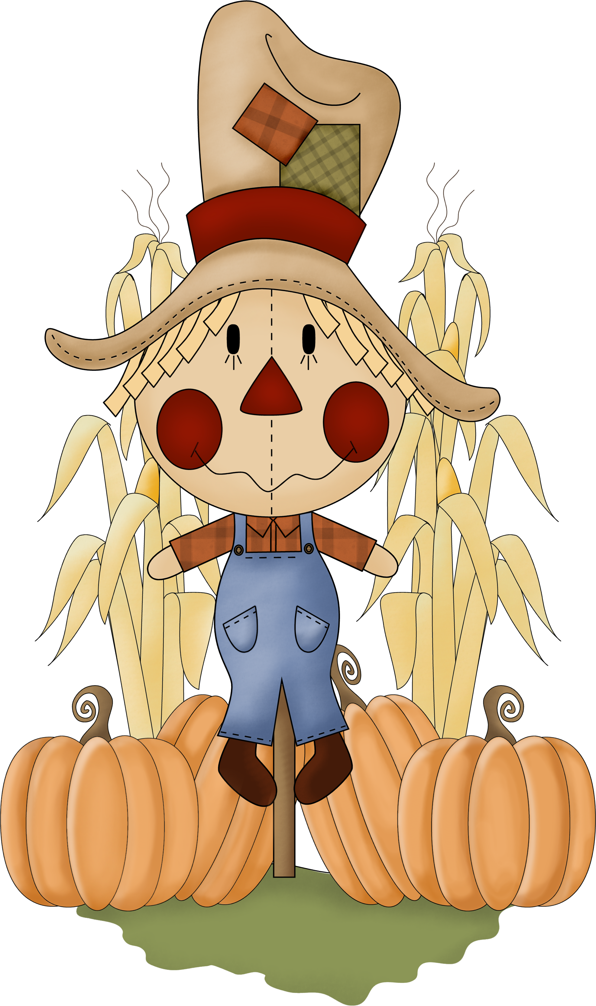 Scarecrow clip art fall. Kite clipart autumn