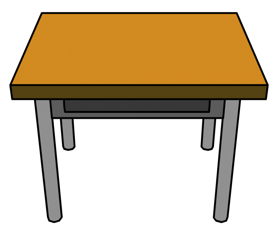 Pretty table illustration of. Furniture clipart animated