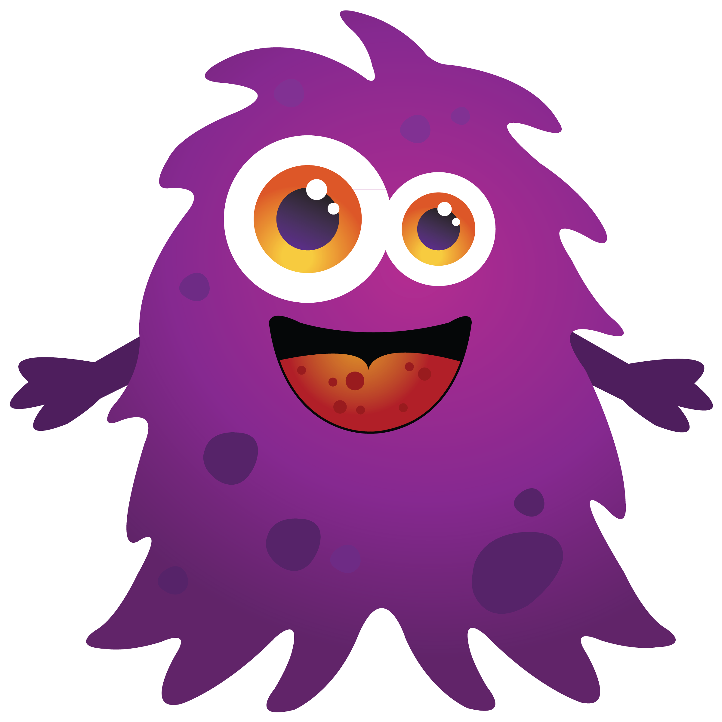 Let kids be bored. Monster clipart lava monster