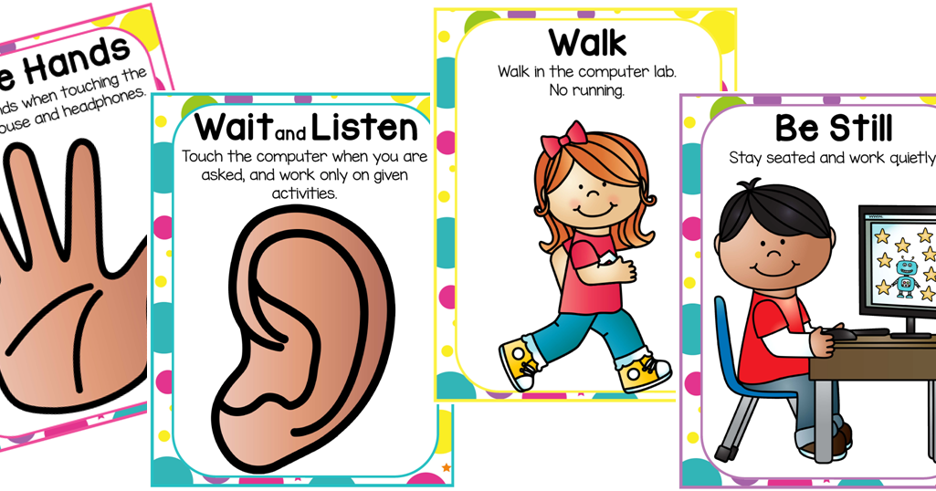 Warning the first lesson. Clipart computer teaching
