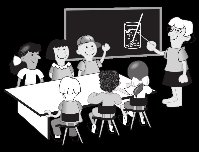 Kids in medium image. Clipart computer classroom