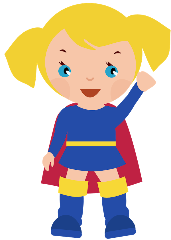 Female superhero clipartcow supergirl. Person clipart printable