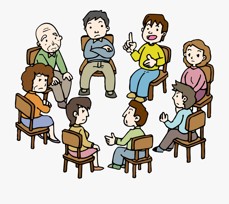 Conversation clipart group therapy. Jpg royalty free stock