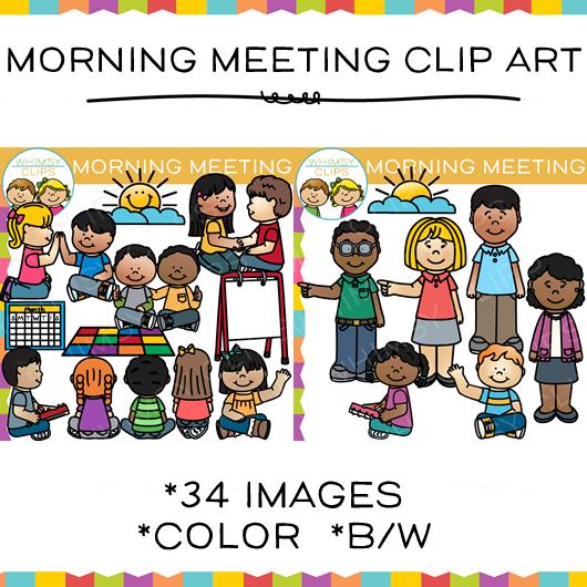 Class clip art library. Kindergarten clipart morning meeting