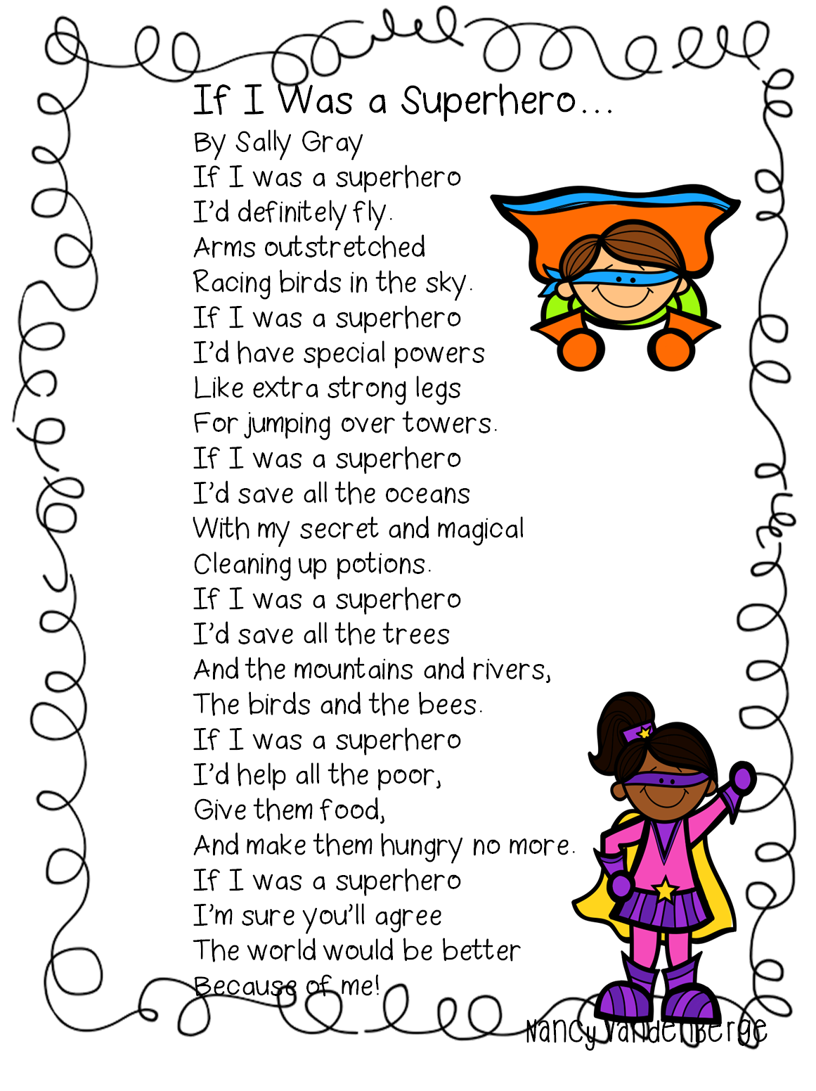 Poetry clipart language art. First grade wow superhero