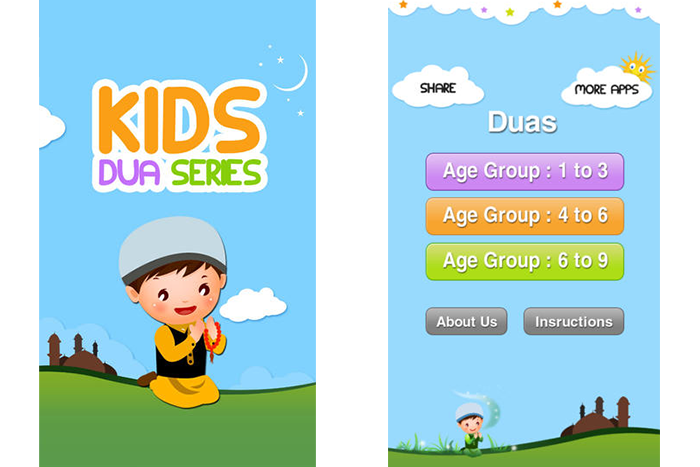 Learning clipart cute. Kids dua series islamic