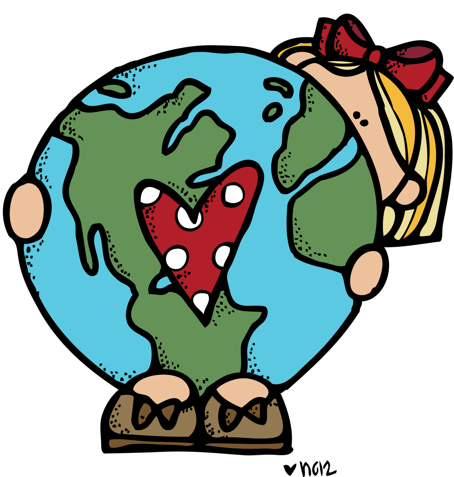 Melonheadz earth day images. Clipart children nature