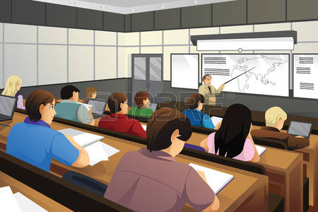 Classroom clipart college classroom. Students in station