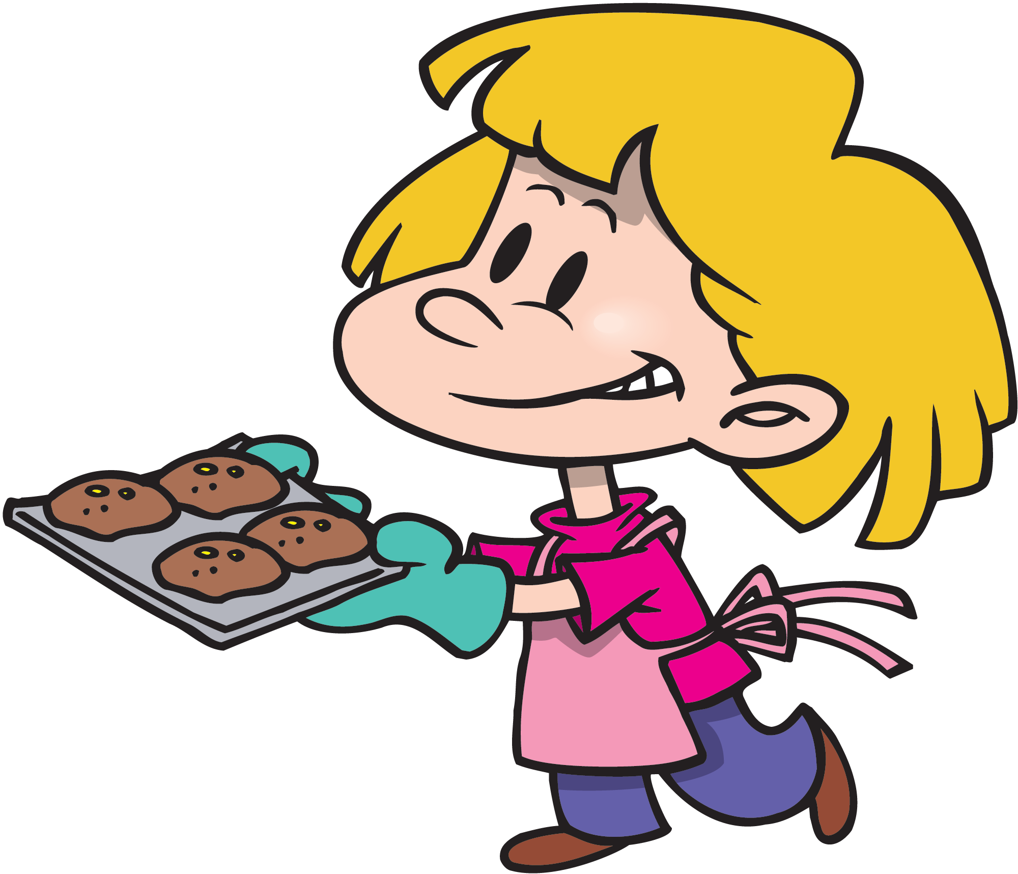 Kids cooking images muffins. Lunchbox clipart helper