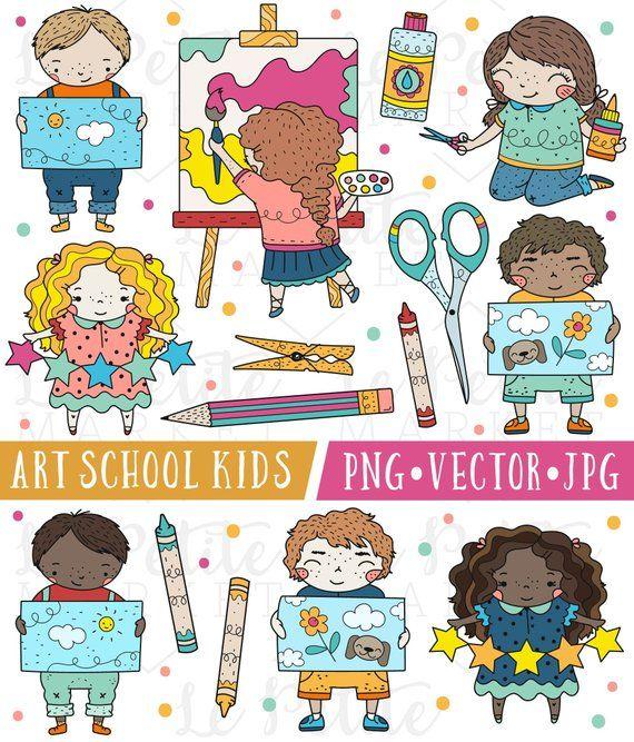 Craft clipart craft class. Cute school kids images