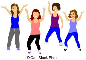 Exercising clipart group exercise. Free cliparts download clip
