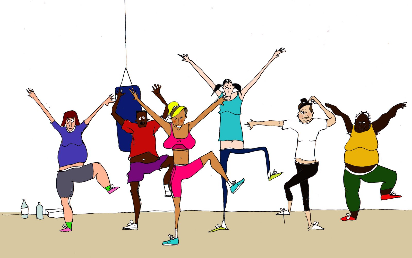 Free group cliparts download. Exercise clipart fitness class