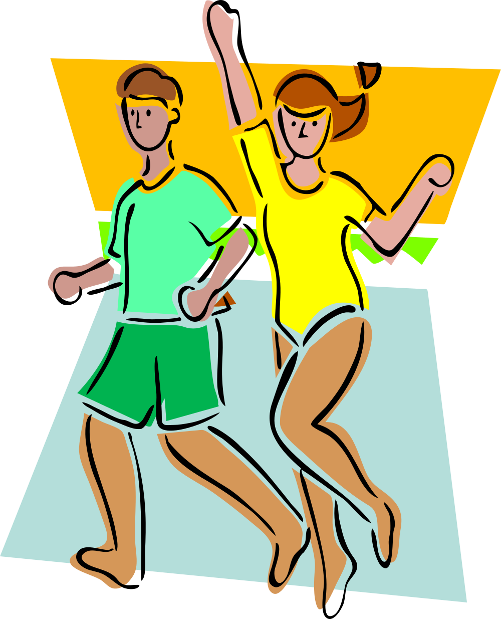 File io donna uomo. Exercise clipart happy