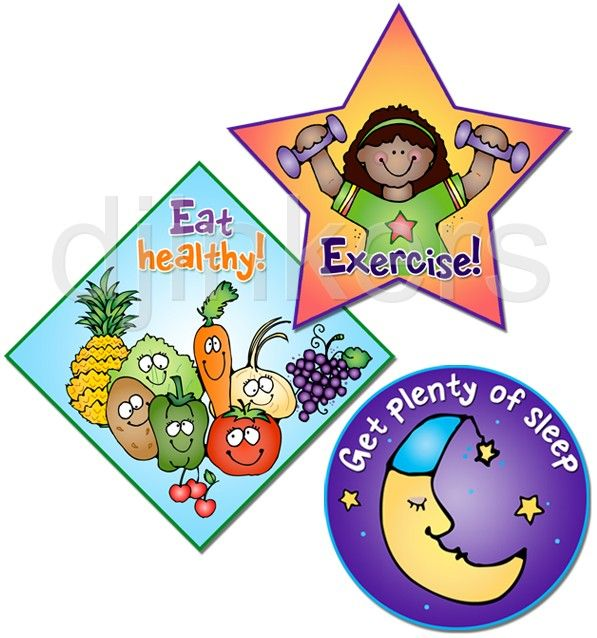 Eat healthy sleep health. Exercise clipart school
