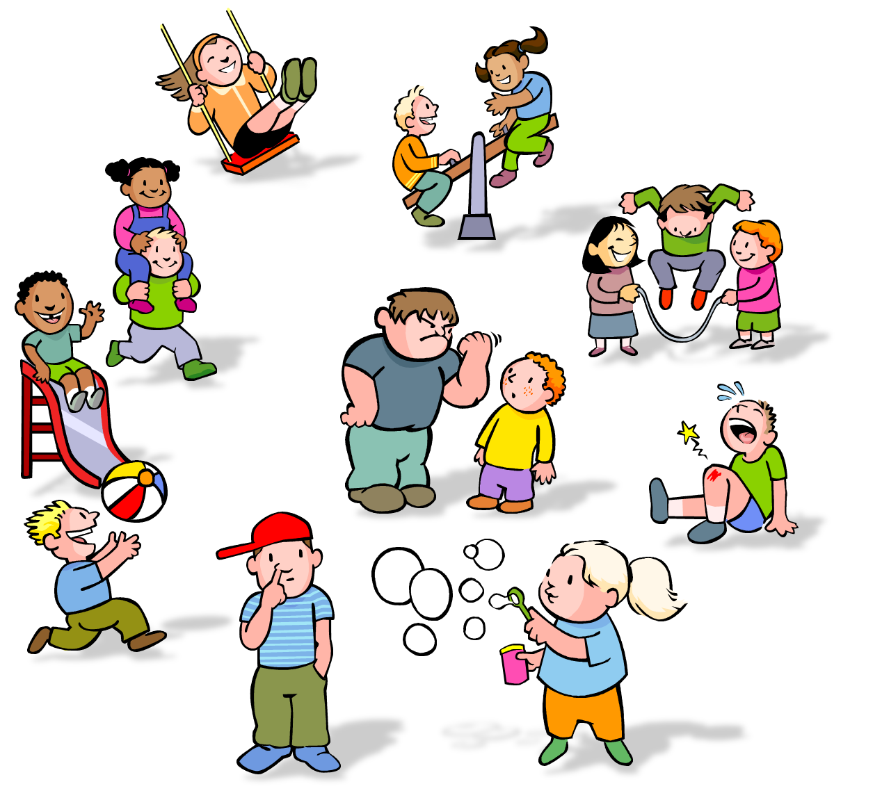 helping clipart children