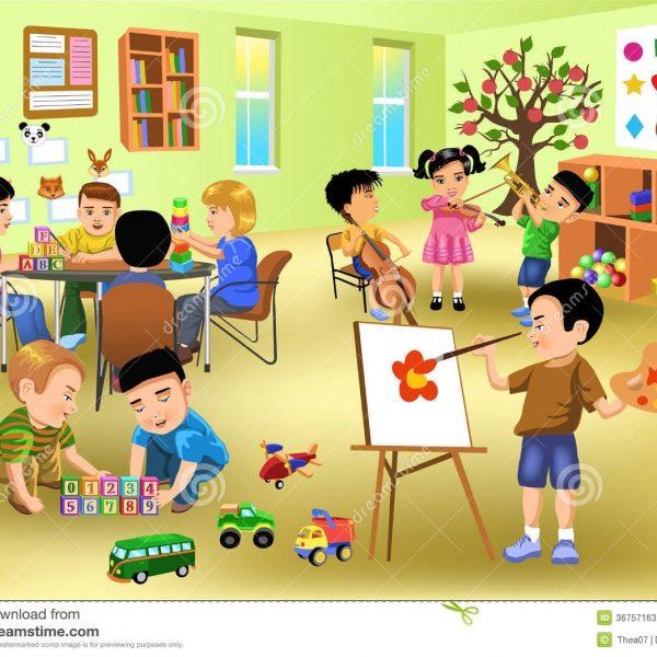 Classroom within . Student clipart kindergarten