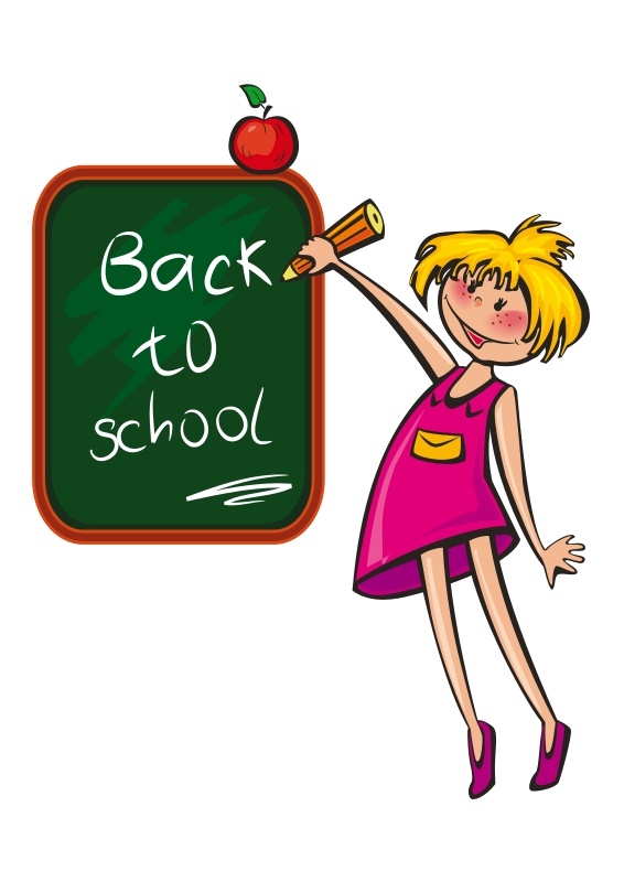 Free back to school. Lady clipart writer