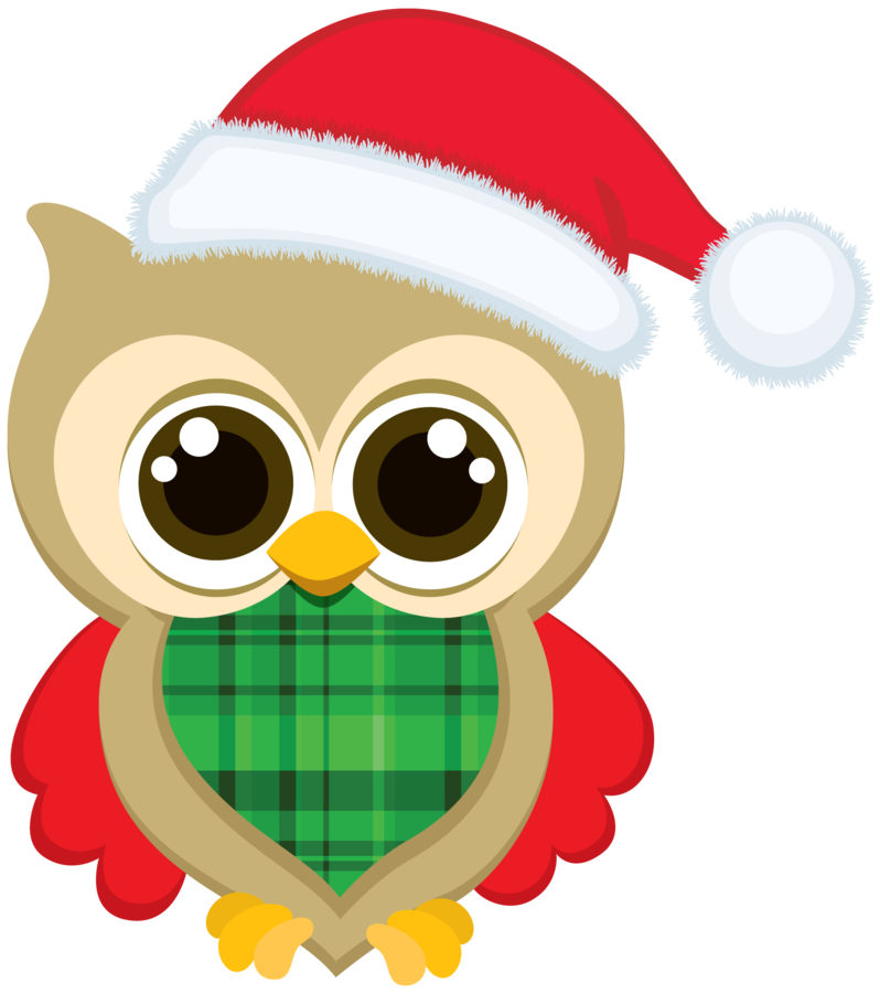 Christmas owl clip art. Painter clipart door