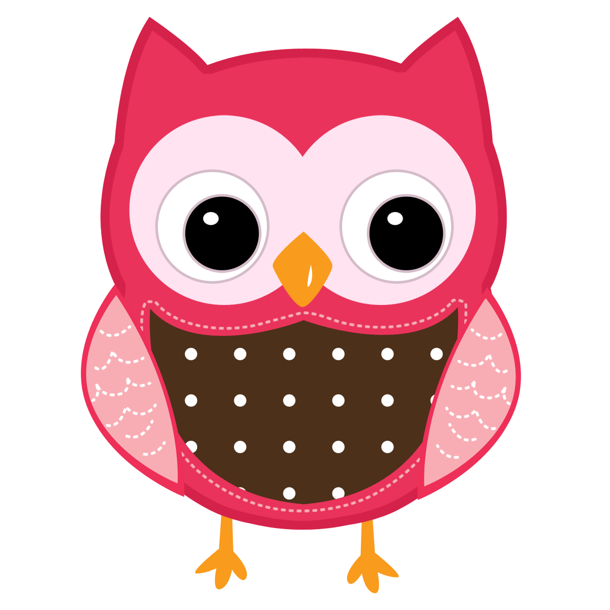 Cute cartoon owls teach. Ears clipart owl