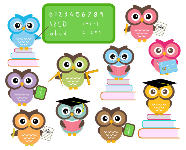 Owls clipart education. Free owl school download