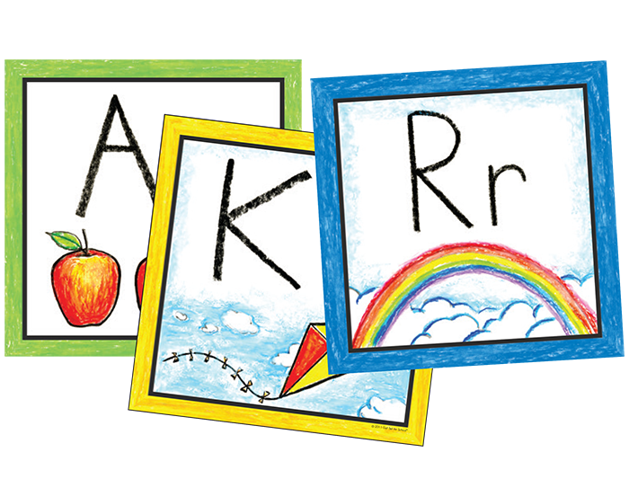 Color wall cards learning. Preschool clipart pre k