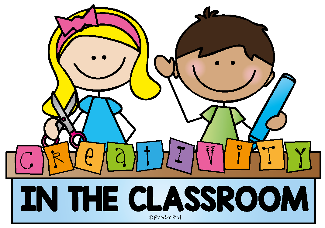 Creativity in the classroom. Clipart table kindergarten