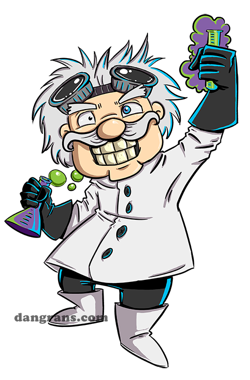 Mad scientist cartoon images. Class clipart reference