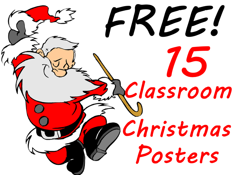 English clipart class monitor.  free christmas posters