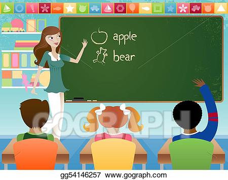 Class clipart teaching. Stock illustration gg