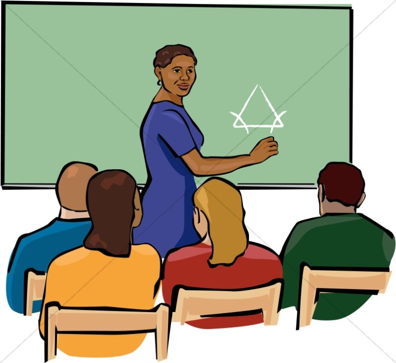 Class clipart teaching. African american teacher in