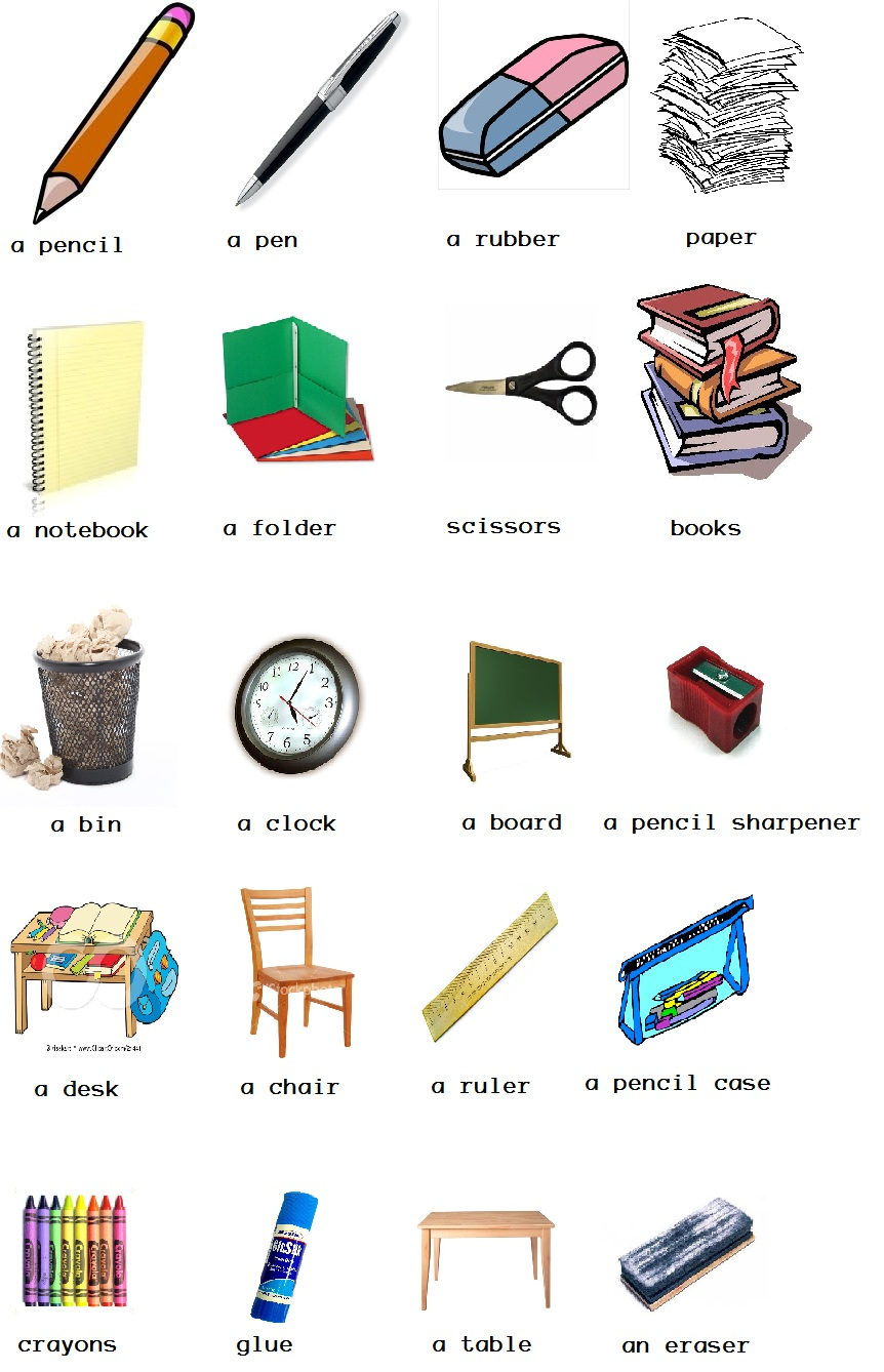 Classroom clipart thing. Object cliparts zone