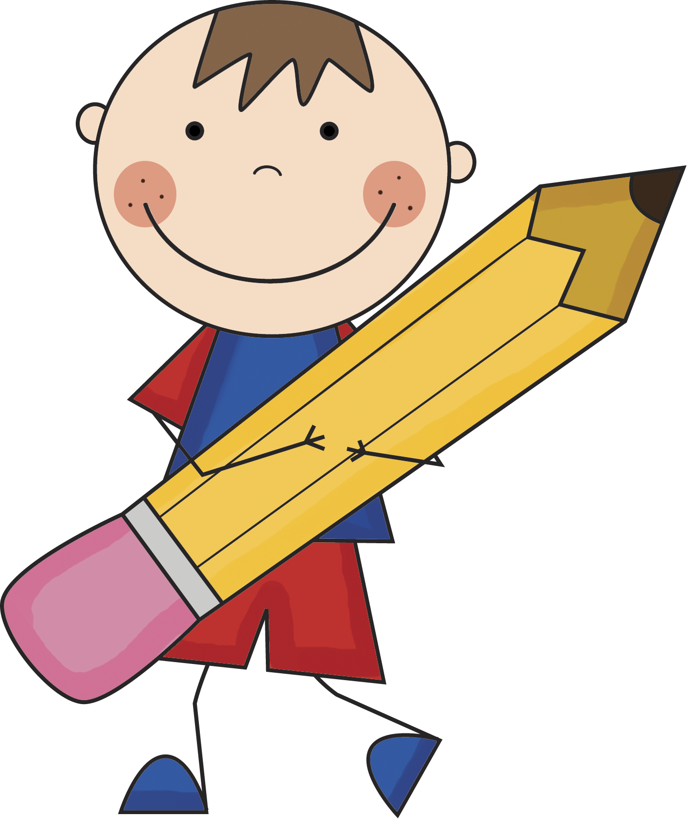 pencil clipart cartoon