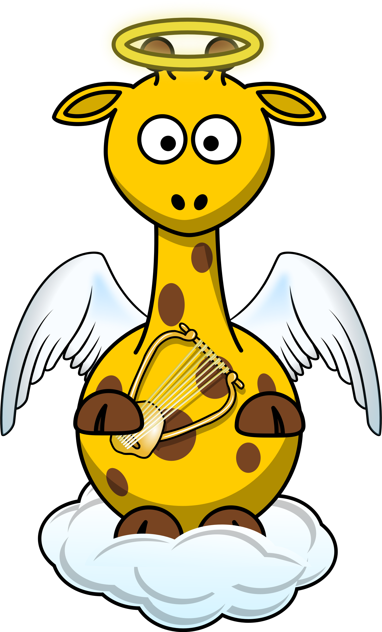 Showering clipart getting dressed. Giraffe angel by bingenberg