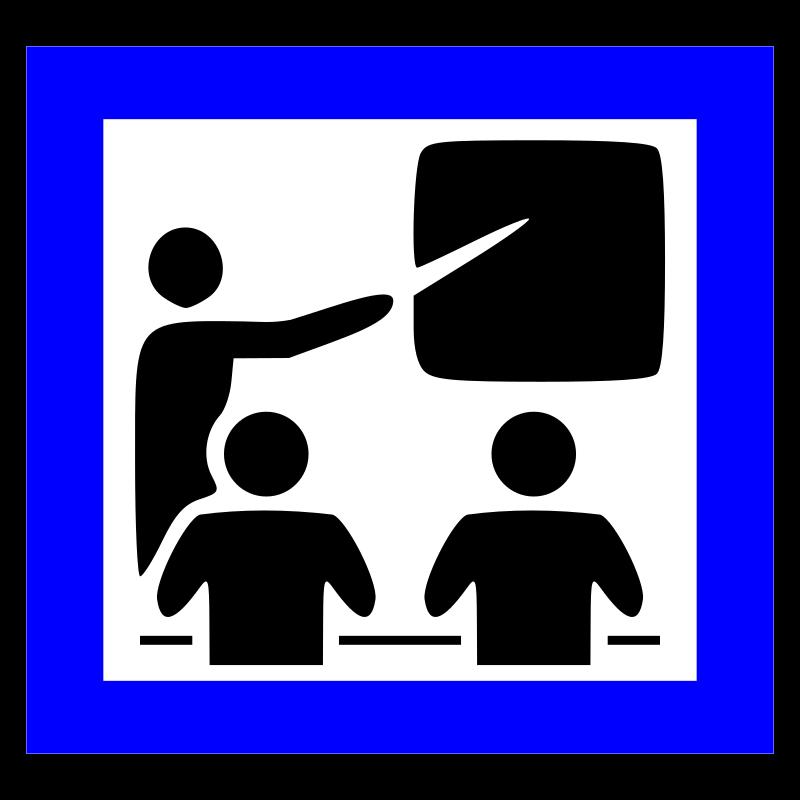 Training icon medium image. Professional clipart seminar