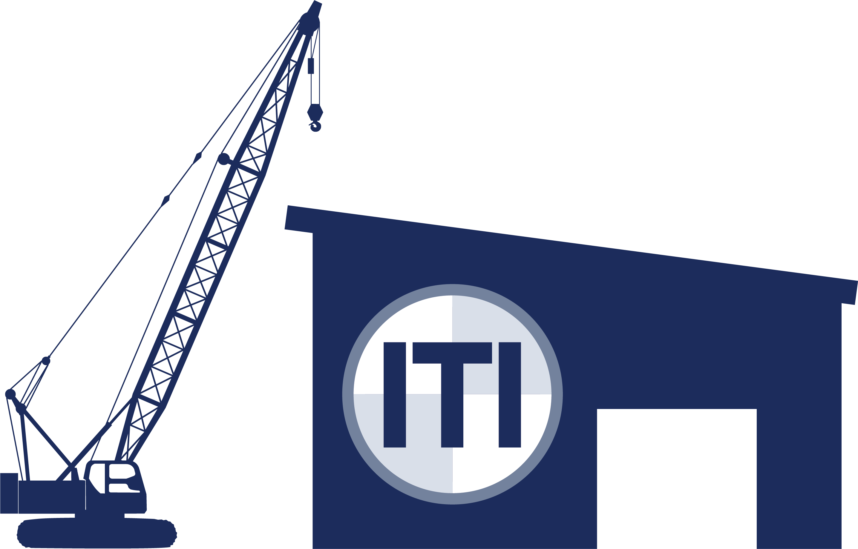 Training solutions iti centers. Crane clipart construction logo