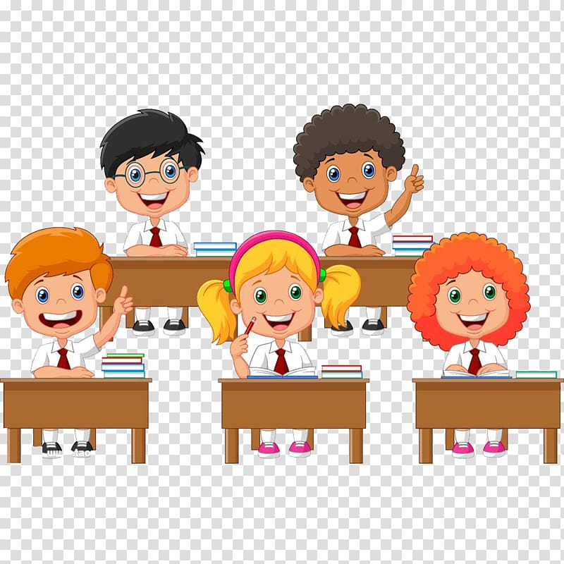 Class clipart transparent. Children at school animated