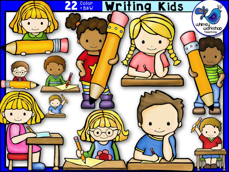Free writing classroom cliparts. Writer clipart one student