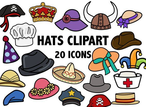 Costume clipart printable. Party hat hand drawn