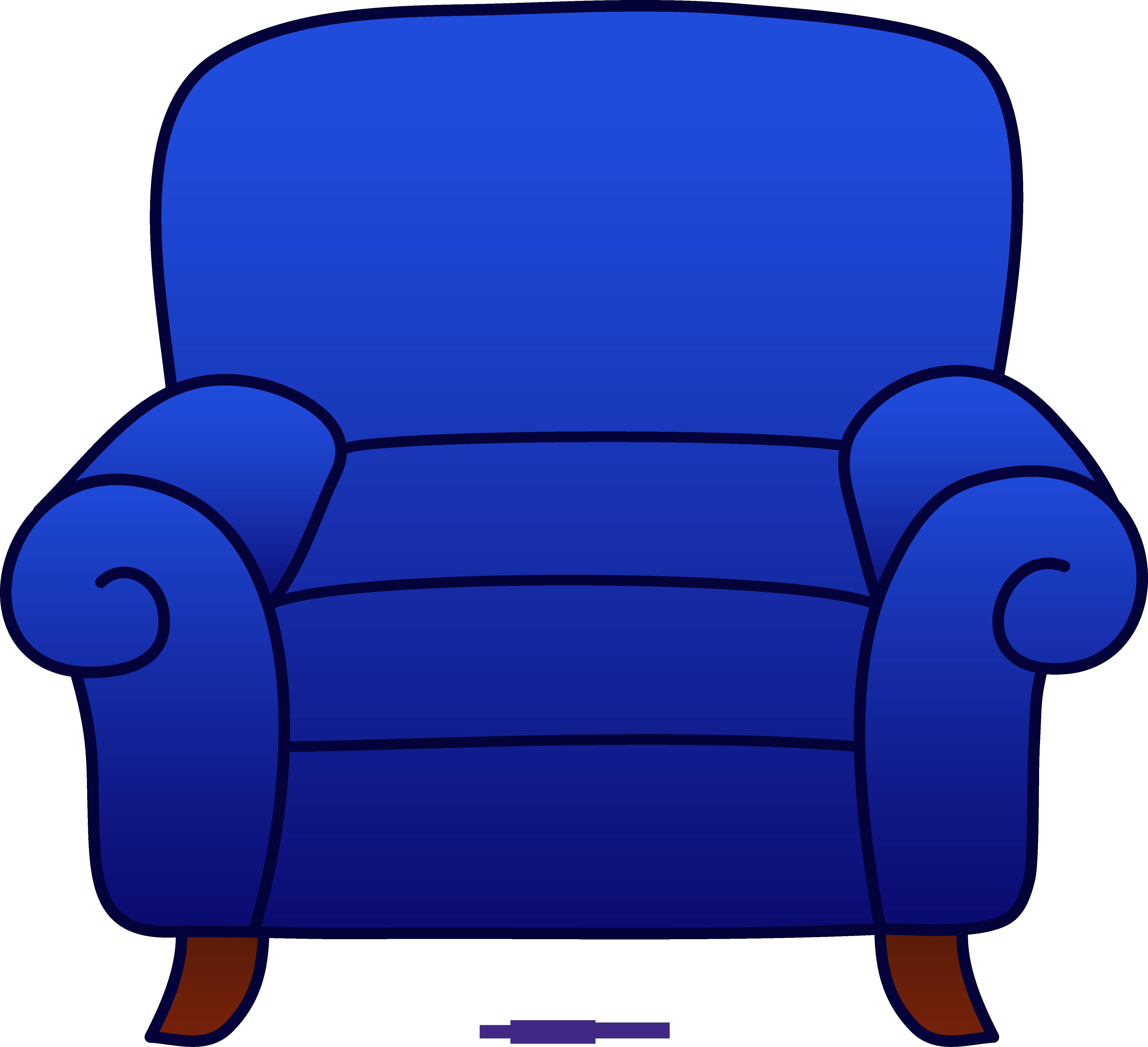 Armchair blue sweet clip. Furniture clipart easy chair