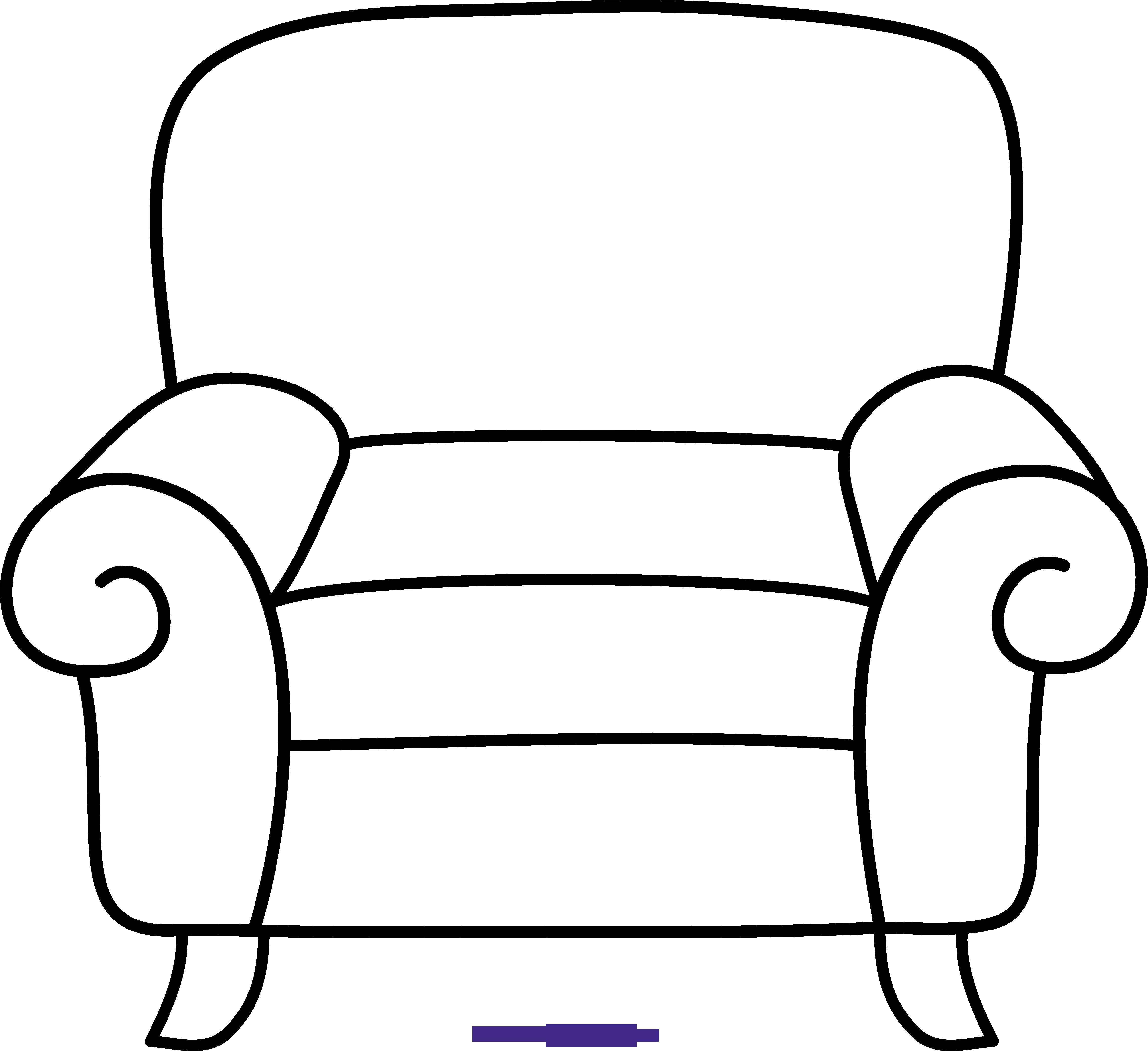 Armchair line art sweet. Music clipart chair