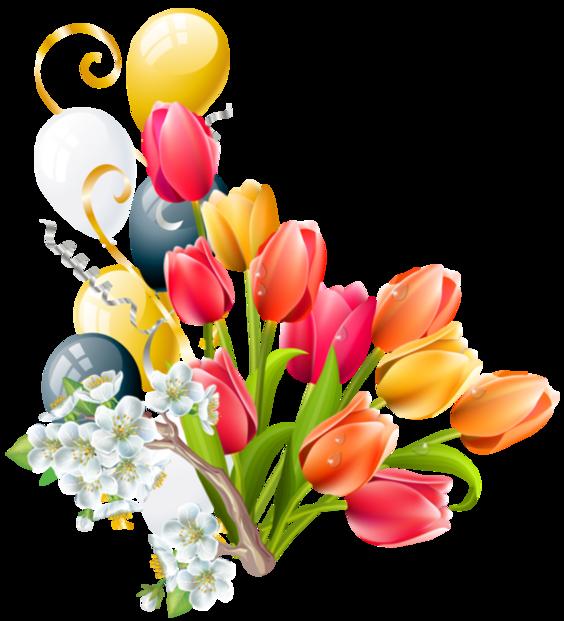 Fleurs flores flowers bloemen. Clipart easter bouquet