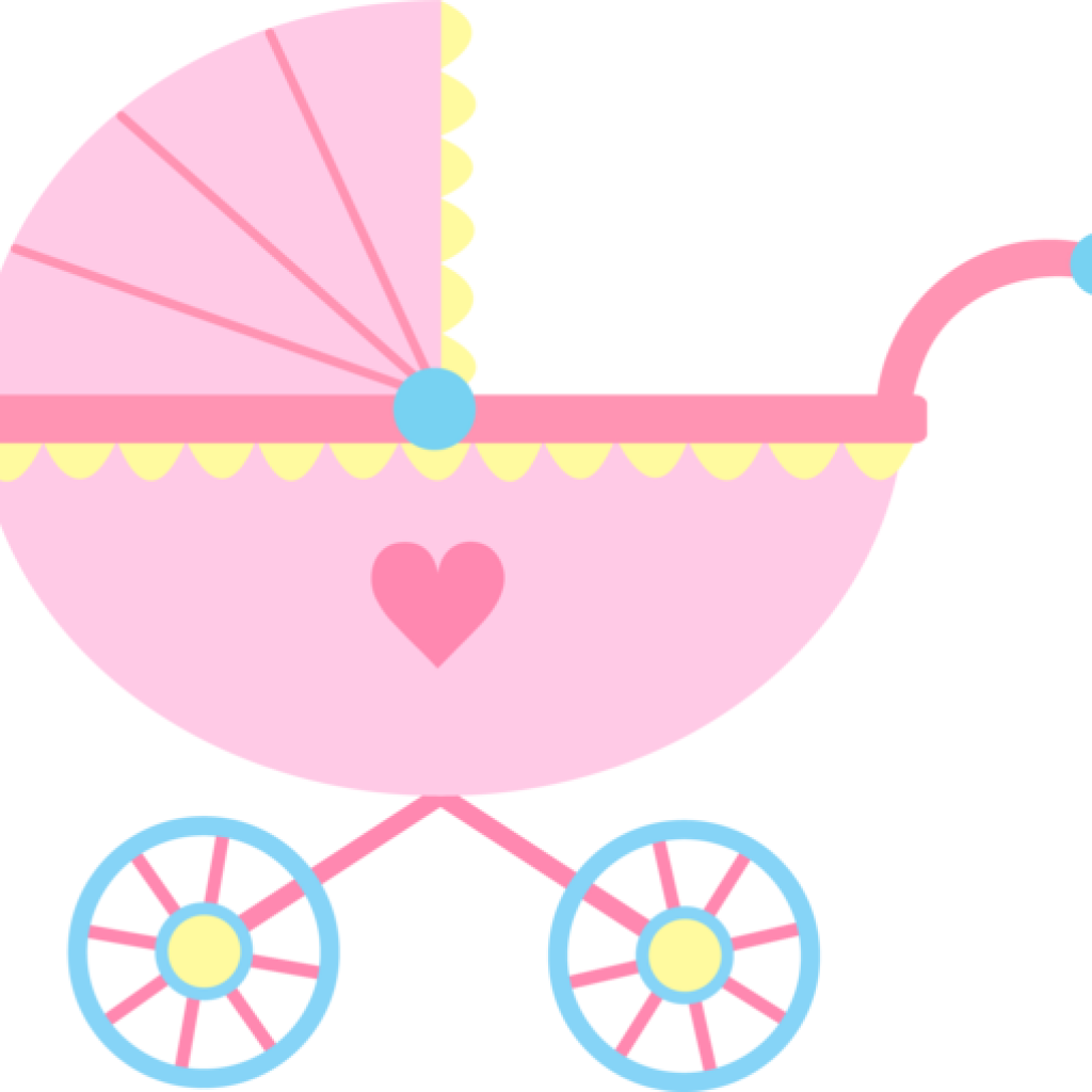 gold clipart baby carriage